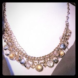New Loft Layered Chrystal Necklace